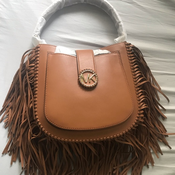 ad5567cbd086 MK Lillie Medium Fringed Leather Shoulder Bag. M_5c2ead0034a4efccdd0ead60.  Other Bags you may like. Micheal Kors ...